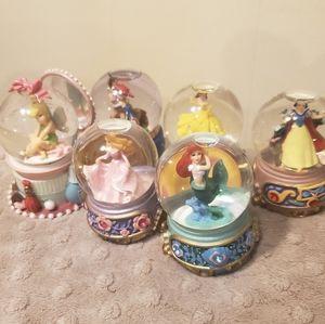 Disney Princess mini snow globes